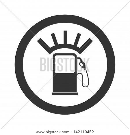 meter fuel hands pump station gas fill empty vector graphic isolated and flat illustration