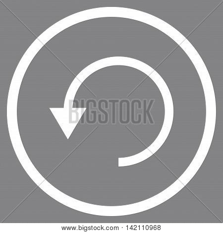 Rotate Ccw vector icon. Style is flat rounded iconic symbol, rotate ccw icon is drawn with white color on a gray background.