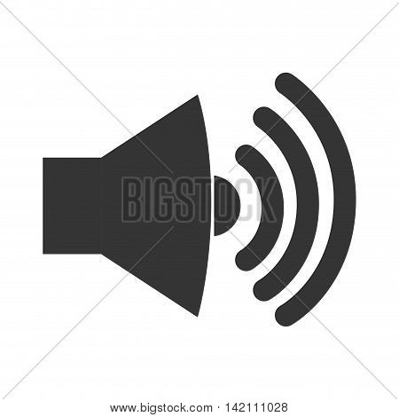 sound loud volume speaker music wave symbol vector graphic isolated and flat illustration