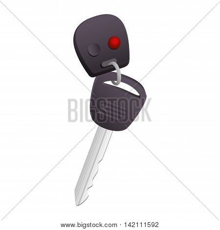 car key buttons door alarm vector graphic keychain  isolated and flat illustration