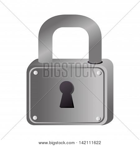 metal hole lock security safety safeguard object closed vector graphic isolated and flat illustration