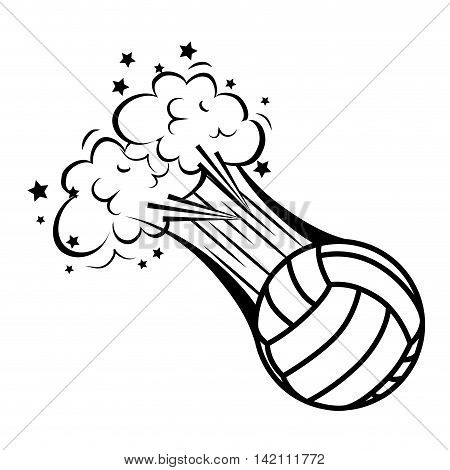 volleyball ball bubble explosion speed game sport play handball object  vector graphic isolated and flat illustration