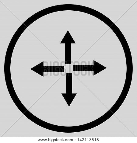 Expand Arrows vector icon. Style is flat rounded iconic symbol, expand arrows icon is drawn with black color on a light gray background.