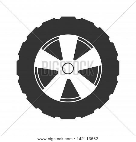 tire wheel car vehicle rim rubber part vector graphic isolated and flat illustration