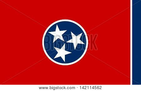 State flag of Tennessee authentic color and scale