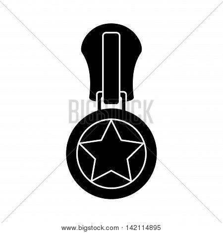 star zipper zippered zip style teeth sewing textile vector graphic isolated and flat illustration