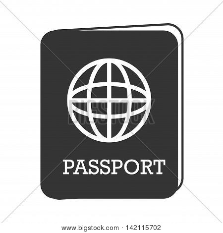 passport identification world travel countries map emigration pass vector graphic isolated and flat illustration