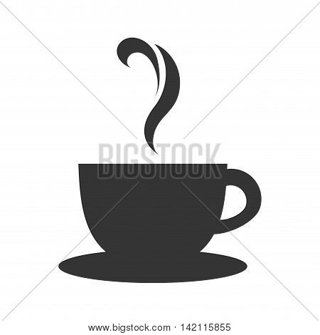 coffee tea cup mug hot cafe drink morning teacup steam vector graphic isolated and flat illustration