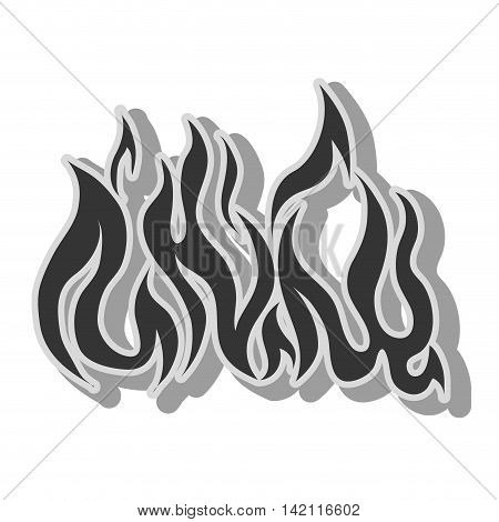 fire flame burn hot heat flaming vector graphic isolated illustration