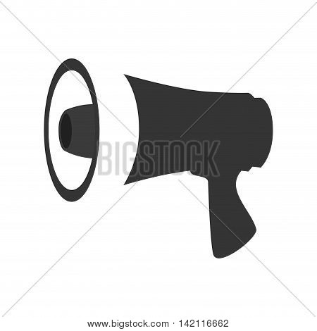 megaphone speak device loud announcement broadcast symbol vector graphic isolated illustration