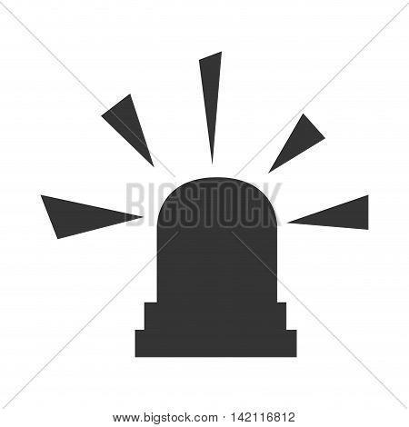 siren emergency light lamp bulb urgent alert vector graphic isolated illustration
