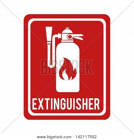 extinguisher sign flame foam bottle prevention fire vector graphic isolated illustration