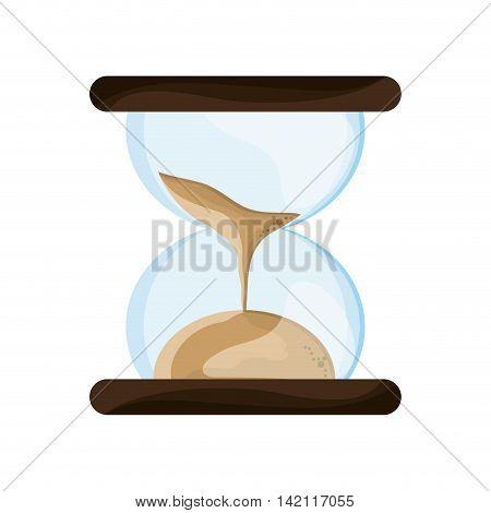 flat design sand hourglass icon vector illustration