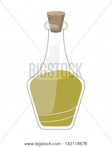 flat design essential oil spa icon vector illustration