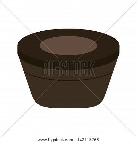 flat design spa hot tub icon vector illustration