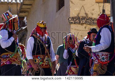 Celebration In Ollantaytambo Peru