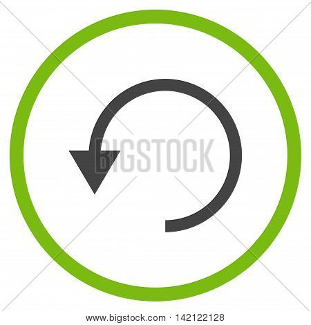 Rotate Ccw vector icon. Style is bicolor flat rounded iconic symbol, rotate ccw icon is drawn with eco green and gray colors on a white background.