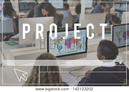 Project Management Business Coordination Concept