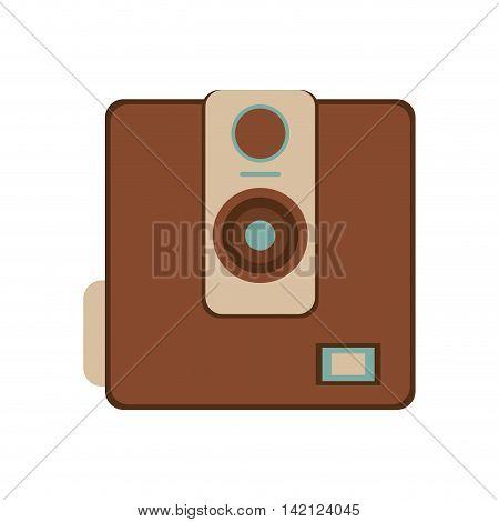 flat design retro photographic camera icon vector illustration