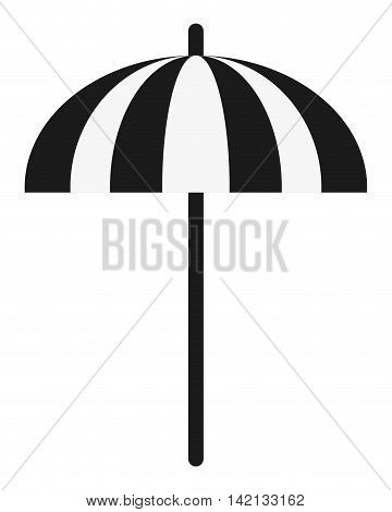 flat design single parasol icon vector illustration