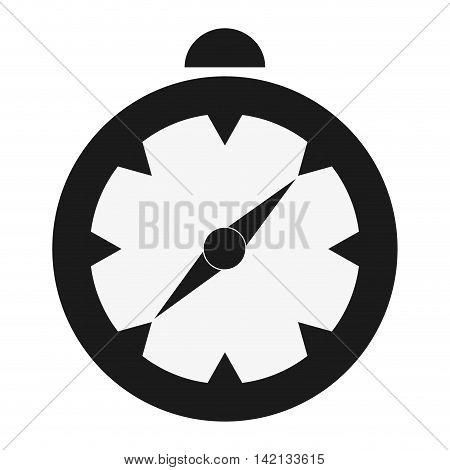 flat design single compass icon vector illustration