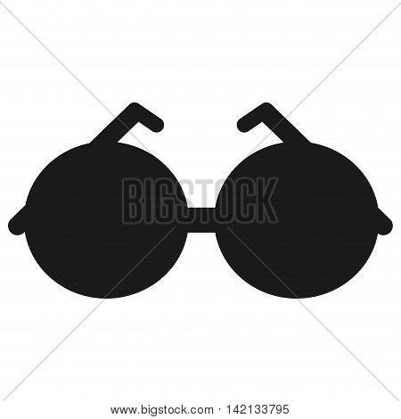 flat design round frame sunglasses icon vector illustration