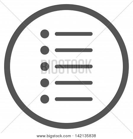 Items vector icon. Style is flat rounded iconic symbol, items icon is drawn with gray color on a white background.