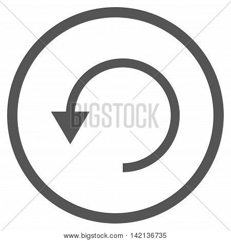 Rotate Ccw vector icon. Style is flat rounded iconic symbol, rotate ccw icon is drawn with gray color on a white background.