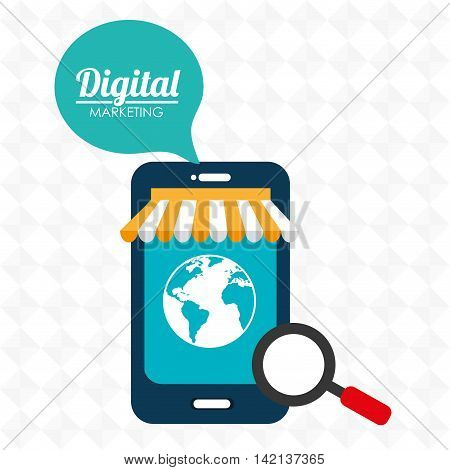 marketing digital smartphone store vector illustration graphic