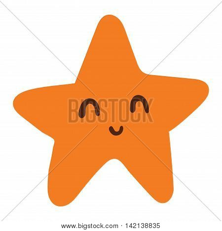Caribbean starfish on white background. Marine nature mollusk beach animal sea star. Underwater life shell summer aquatic fish sea star. Aquarium red animal, travel reef invertebrate.