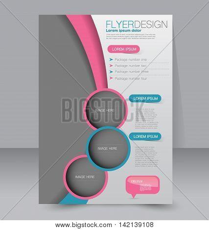 Flyer Template. Business Brochure. Editable A4 Poster For Design, Education, Presentation, Website,