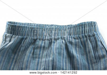 A pair of boxer shorts (underwear) on white
