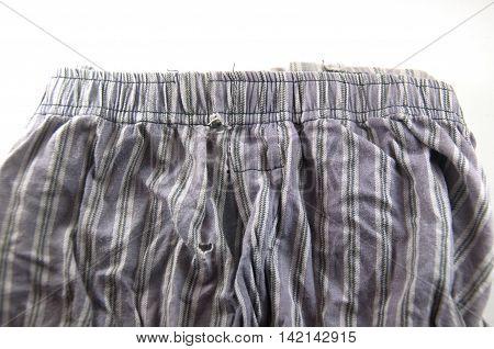 men underwear isolated on white background, old underwear