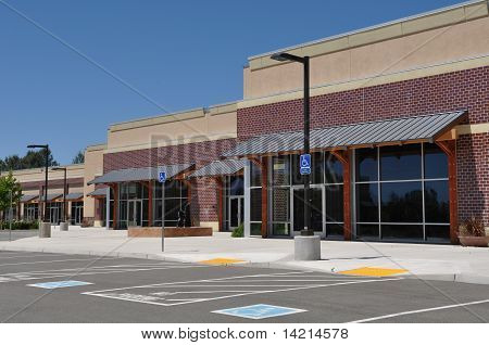 Strip Mall Shopping Center