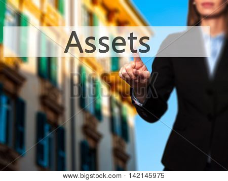 Assets - Isolated Female Hand Touching Or Pointing To Button
