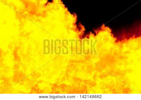 Fiery yellow background computer simulation of a bright flame