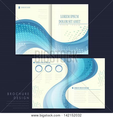 Elegant Half-fold Brochure Template Design