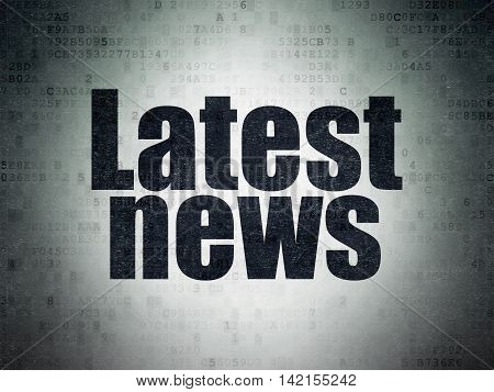News concept: Painted black word Latest News on Digital Data Paper background