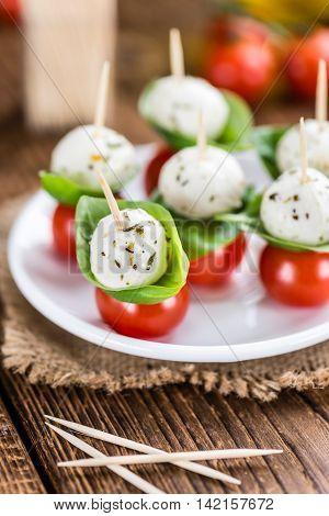 Tomatoes And Mozzarella With Fresh Basil