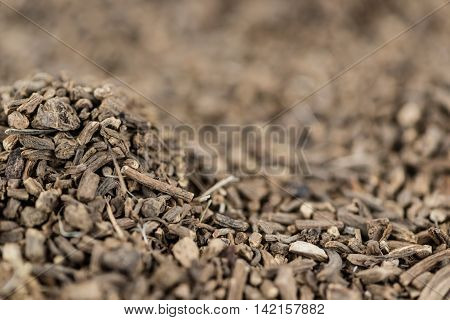 Dried Valerian Roots As Background Image Or As Texture