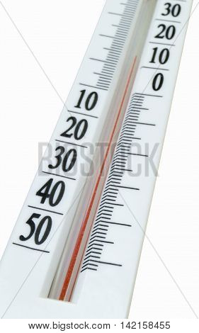 Instrument for measurement of the temperature of the air is insulated on white background