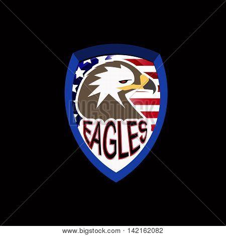 logo of an eagle on black background