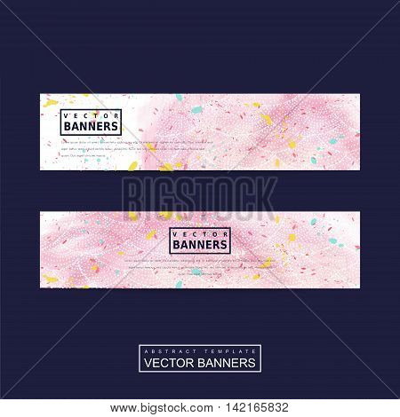 Adorable Pink Banner Template Design