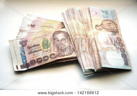 Thai Banknote of 1000 Baht, Thailand money