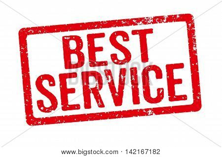 Red Stamp On A White Background - Best Service