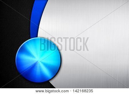 knob design with metal mesh background