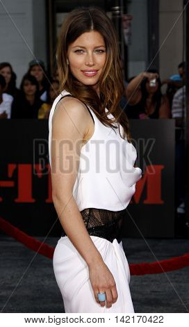 Jessica Biel at the Los Angeles premiere of 'The A-Team' held at the Grauman's Chinese Theater in Hollywood, USA on June 3, 2010.