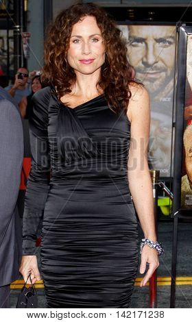 Minnie Driver at the Los Angeles premiere of 'The A-Team' held at the Grauman's Chinese Theater in Hollywood, USA on June 3, 2010.