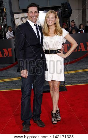 Jon Hamm and Jennifer Westfeldt at the Los Angeles premiere of 'The A-Team' held at the Grauman's Chinese Theater in Hollywood, USA on June 3, 2010.