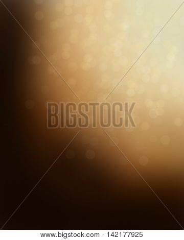 Dotted abstract background in brown with light reflections